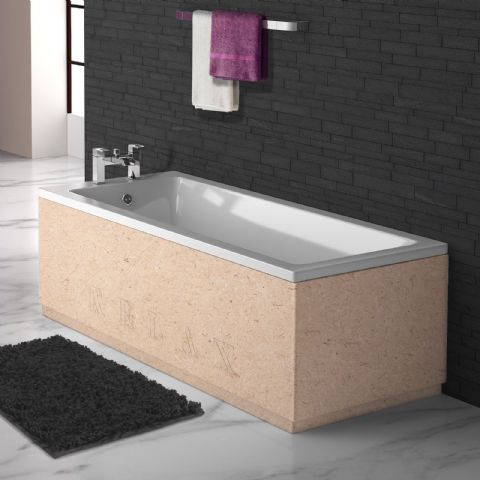 MDF Paintable Engraved 2 Piece adjustable Bath Panels